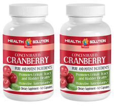Concentrated Cranberry Extract 400mg Healthy Urinary Tract Bladder (2 Bottles)