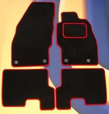 VAUXHALL CORSA 2001 - 2007 BLACK CAR MATS / RED EDGE