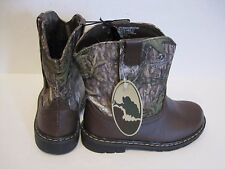 Infant Toddler Mossy Oak Boys Girls Camo Hunting Cowboy Casual Boots Shoes Sz 4