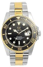 New 101 200m Scuba DIVERS SUBMARINE Black x Gold Bezel MENS Watch F/S from Japan