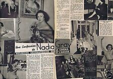 Coupure de presse Clipping 1956 Nadia Gray   (2 pages)