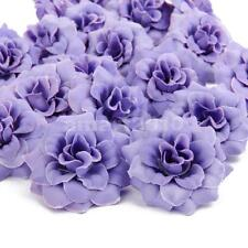 50Pcs Artificial Rose Faux Silk Flower Head Wedding Home Party Décor Lilac