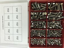 "200 pcs M6 M8 M10 Assorted Hexagon head bolts Stainless Steel ""10 sizes + Box"""