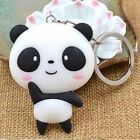 Silicone Panda Cartoon Keychain Bag Pendant Key Ring Lovely Gift Present