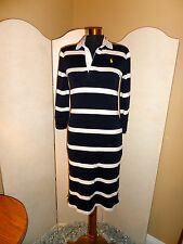 Ralph Lauren Polo Rugby Style Shirtdress Shirt Dress Navy White Stripe Size XS