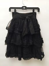 Givenchy Size 36 Black Ladies Skirt