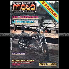 LE MONDE DE LA MOTO N°144 YAMAHA 1000 VIRAGO HARLEY ELECTRA GLIDE MZ 250 ETZ '87