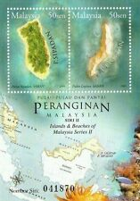 Islands And Beachs of Malaysia 2003 Map Coral Fish (ms) MNH *emboss *unusual