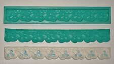 Silicone mold mould sugarcraft cake wedding  moulds repeat lace border (1001)