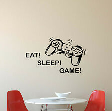 Eat Sleep Game Wall Decal Gamepad Video Gaming Vinyl Sticker Poster Decor 316
