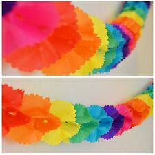 Rainbow Paper Garland 12 Ft Long 3D Gay Pride Hanging Party Decoration Same Sex