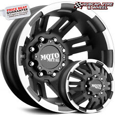 "MOTO METAL MO963 DUALLY MATTE BLACK MACHINED 17""x6 CUSTOM WHEELS RIMS (set of 4)"