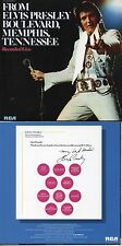 CD Elvis PRESLEY From  Boulevard, Memphis, Tennessee  (1976) - Mini LP REPLICA -