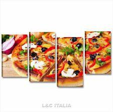 Pizza 3 QUADRO 152x78 QUADRI MODERNI CUCINA PIZZERIA RISTORANTE ARREDO STAMPA