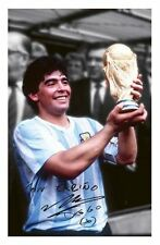 DIEGO MARADONA - ARGENTINA AUTOGRAPHED SIGNED A4 PP POSTER PHOTO 1