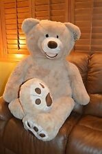 "NWT  HUGFUN Cream Color Giant 53"" Life Size Tan Teddy Bear Huge NEW*Free Ship"
