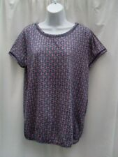 SIZE 16 BLUE DIAMOND PATTERN PRINT TOP BY NEXT