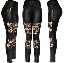 Sexy Faux Leather Designs Leggings