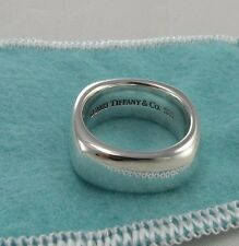 Size 5.5 Tiffany & Co Ring Sterling Silver 925 Square Cushion Band 5 1/2 w/ Bag