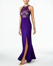 Nightway Halter Neck Formal Dress Purple 10 #D72