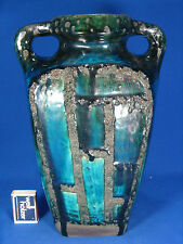 70´s design Ruscha Keramik  vase unusual shape & glaze variation 66 / 1   1 Chip