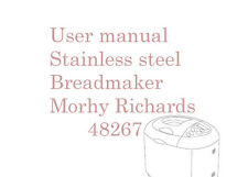 User manual for Morphy Richard stainless steel breadmaker 48267, 26 pages.