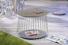 Couchtisch hochglanz Wohnzimmertisch Glas Wohnzimmer Tisch cappuccino 70 cm NEU