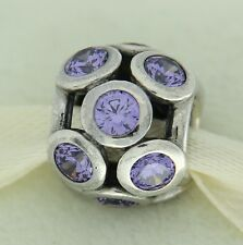 Authentic Pandora 791153ACZ Purple Whimsical Lights Sterling Silver Bead Charm