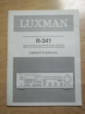 Original Owner / User Manual for the Luxman R-341 Receiver
