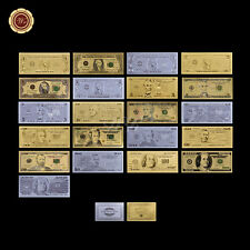 US Dollar Banknote Gold/Silver/Colored 24Kt Fine Collectable Bill 3 Sets $1-$100