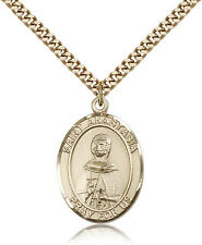 "Saint Anastasia Medal For Men - Gold Filled Necklace On 24"" Chain - 30 Day Mo..."