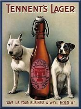 Tennents Lager Dogs steel fridge magnet (na)