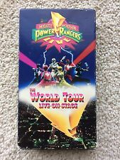 RARE OOP Mighty Morphin Power Rangers The World Tour Live On Stage VHS Saban