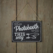 AFFARE VINTAGE-CHALKBOARD-in legno Photo Booth segno