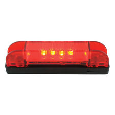 Thin Line Wide Angle - 6 LED Marker Light - (RED LED w/RED LENS)