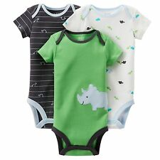 NEW NWT Boys Carter's 3 Pack Bodysuits Preemie Monkey Mr. Cute Camouflage Camo