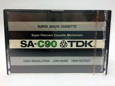 TDK SA-C 90 BLANK AUDIO CASSETTE TAPE NEW RARE 1975 YEAR JAPAN MADE KIND #3
