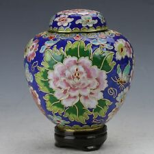 Chinese Cloisonne copper painted Flower  Pot