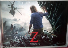 Cinema Poster: WORLD WAR Z 2013 (Quad) Brad Pitt Matthew Fox James Badge Dale