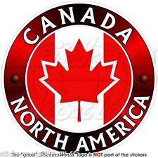 """CANADA Canadese, Nord America, FOGLIA D'ACERO Adesivo Vinile 100mm (4"""") Sticker"""