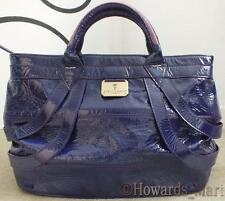 New Genuine Loren Taylor Cole Purple Gloss Patent Ladies Tote Handbag Laptop Bag