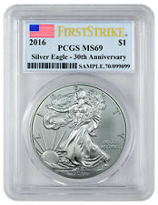 2016 1 Troy Oz American Silver Eagle PCGS MS69 FS (Flag Label) SKU38484