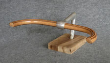 CUSTOM # Wood'n # BULL HORN Handlebar * WOODEN Fixed Gear WOOD Track Fixie !!!