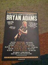 BRYAN ADAMS- UK TOUR 2009- RARE CONCERT FLYER