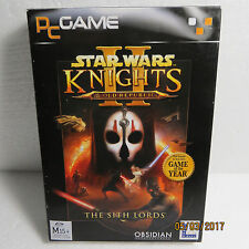 """2005 Star Wars """"Knights of the Old Republic II The Sith Lord"""" .. New Sealed PC"""
