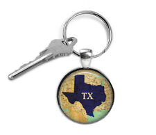Texas State keyring, State Map for Him, Texas gifts, State, Keyring