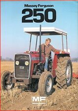 French Original  Prospect  Tracteur Tractor Massey Ferguson MF 250_ 2 pages