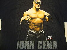 WWF Wrestling John Cena Fan Black T Shirt XL