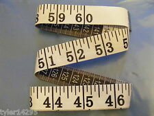 """TAPE MEASURE*WHITE*MEASURING*TAILOR*CRAFT*DIET*60""""*1.5m*LARGE EASY READ NUMBERS"""