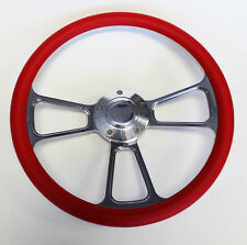 """1948 - 1959 Chevy Chevrolet Pick Up Truck Red and Billet Steering Wheel 14"""""""